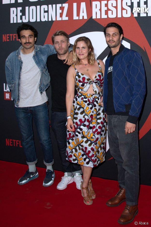 La Casa de papel saison 3 : Marc Ruchmann, Joséphine Draï, Syrus Sahidi et Tom Dingler de Plan Coeur réunis sur le red carpet
