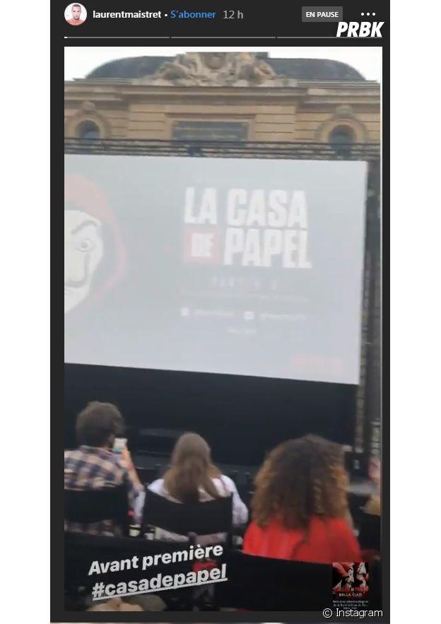 La Casa de papel saison 3 : Laurent Maistret à l'avant-première à Paris