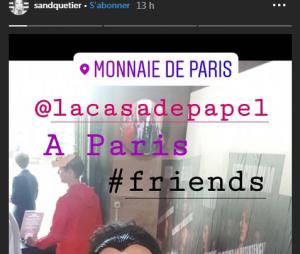La Casa de papel saison 3 : Sandrine Quétier à l'avant-première à Paris
