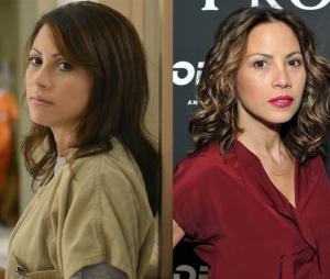 Orange is the New Black : Elizabeth Rodriguez (Aleida) dans la série VS dans la vie