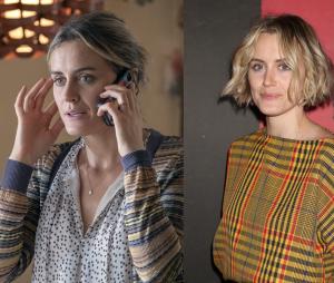Orange is the New Black : Taylor Schilling (Piper) dans la série VS dans la vie