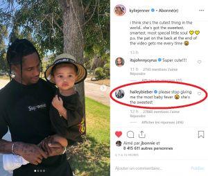 Hailey Baldwin bientôt enceinte de Justin Bieber ? Elle avoue avoir des envies de bébé quand elle voit Stormi, la baby girl de Kylie Jenner et Travis Scott