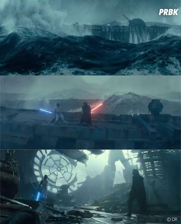 Star Wars 9 : l'affrontement de Rey et Kylo Ren sur les ruines de l'Etoile de la Mort