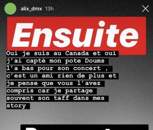 Alix (Les Marseillais) répond aux rumeurs avec Nekfeu et Doums