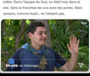 Aubin (Koh Lanta 2020) clashé par Mathieu après son élimination, il lui répond