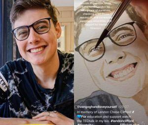 Mort de Landon Clifford : la TikTokeuse BETHUNE (@vangoghandloveyourself) a peint son portrait pour lui rendre hommage pour le mois de la prévention au suicide