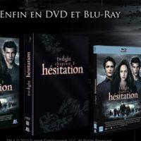 Twilight Chapitre 3 Hésitation ... sortie du DVD/Blu-Ray aujourd'hui