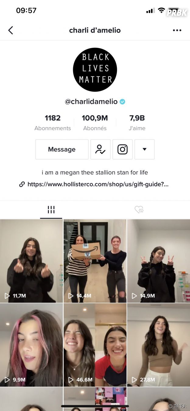 Charli D'Amelio atteint les 100 millions d'abonnés sur TikTok