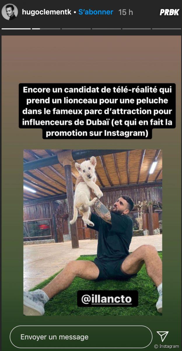 Hugo Clément recadre Illan Castronovo après sa visite au zoo de Dubaï
