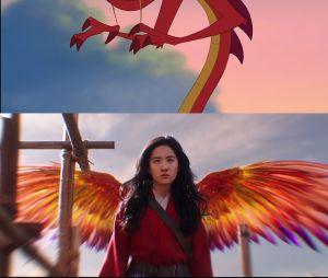 Mulan : Mushu est absent et remplacé par un phoenix