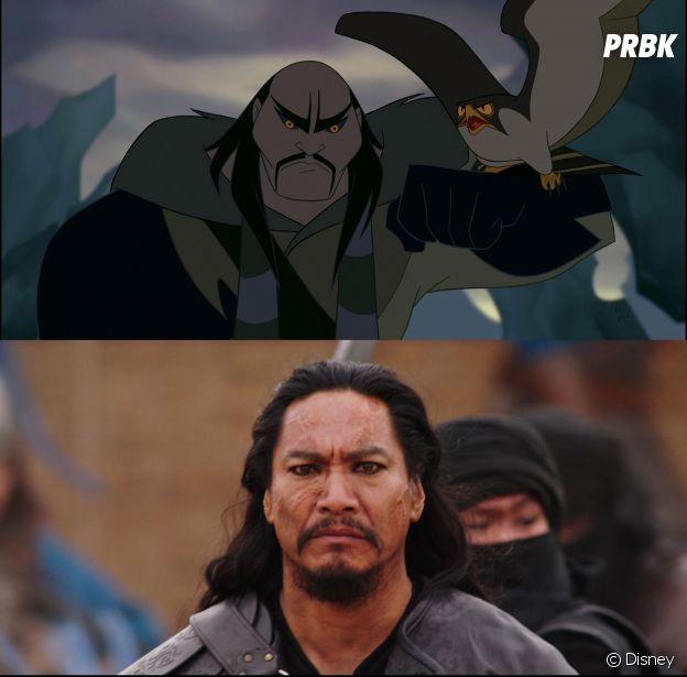 Mulan : le méchant est différent dans les deux films