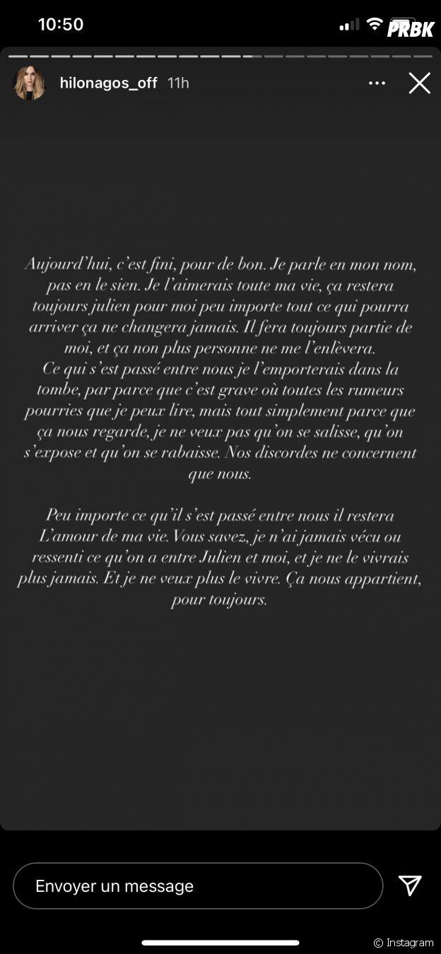 Hilona (Les Princes et les princesses de l'amour 4) annonce sa rupture définitive avec Julien Bert