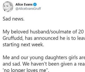 Ioan Gruffudd (Dr Harrow) séparé de sa femme Alice Evans : elle s'explique sur leur rupture et l'affiche sur les réseaux
