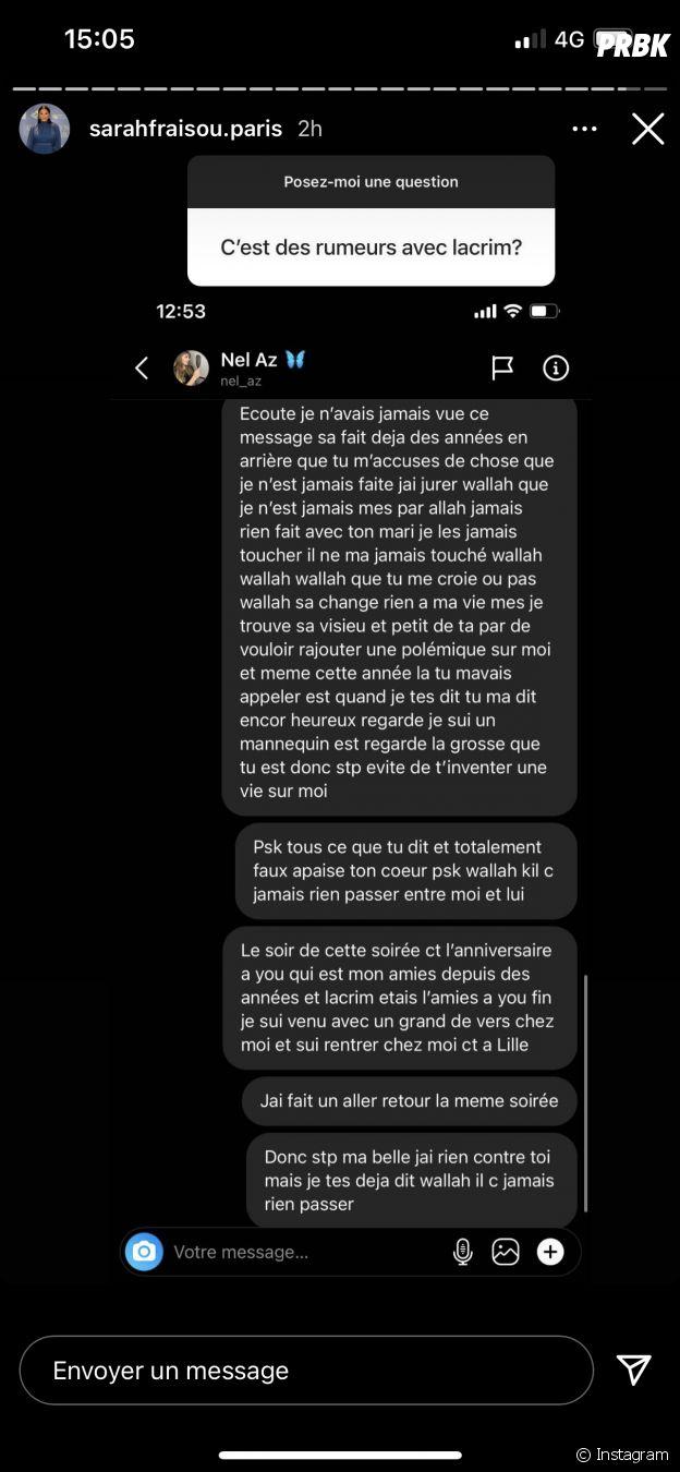 Sarah Fraisou acccusée d'avoir été la maîtresse de Lacrim : elle répond à l'ex-femme du rappeur