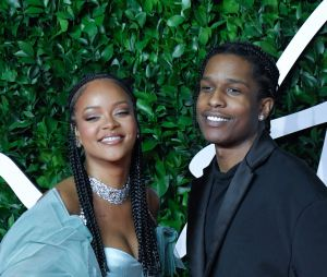 Rihanna et A$AP Rocky au Fashion Awards 2019, au Royal Albert Hall à Londres en 2019. Le rappeur a confirmé leur couple dans GQ