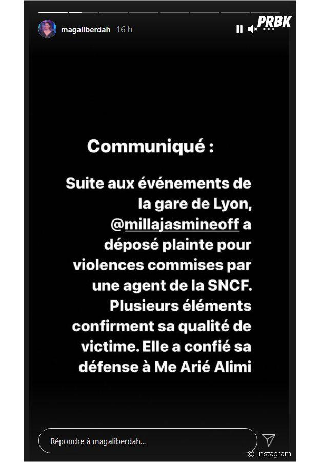 """Magali Berdah annonce que Milla Jasmine va porter plainte pour """"violences"""""""