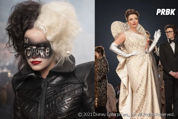 Emma Stone et Emma Thompson dans Cruella
