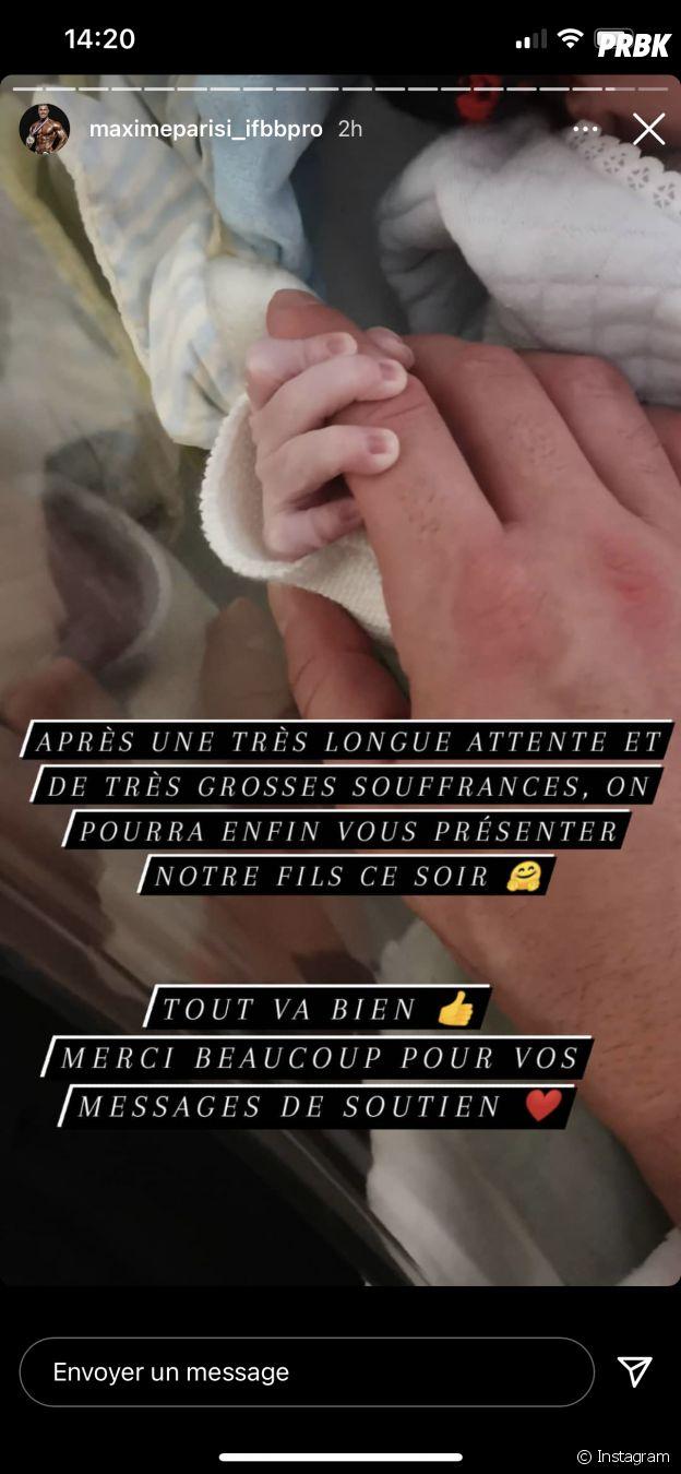 Maxime Parisi annonce la naissance de son fils avec Julia Paredes