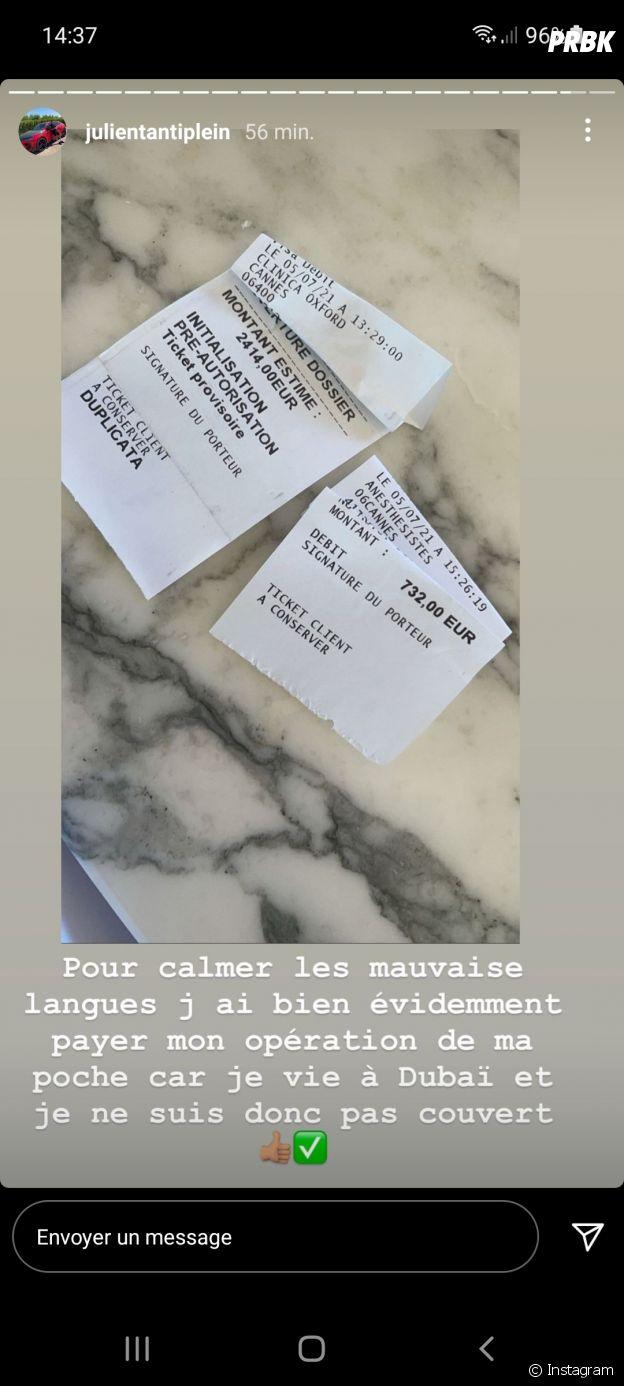 Julien Tanti met les choses au clair après des rumeurs sur son hospitalisation le 9 juillet 2021