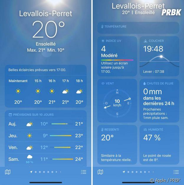 ios 15 : la nouvelle météo sur iPhone, bien plus complète et plus belle
