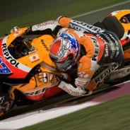 Casey Stoner ... vainqueur du 1er Grand Prix Moto GP au Qatar, Valentino Rossi 7eme