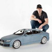 Une Audi A7 en papier ... Le record fou du designer Taras Lesko (VIDEO)