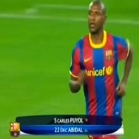 Retour d'Eric Abidal ... Son entrée en jeu contre le Real (VIDEO)
