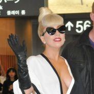 Lady Gaga : sublime et décolletée pour son départ de Tokyo (PHOTOS)
