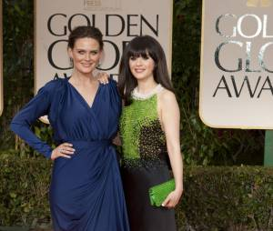 Emily et Zooey Deschanel aux Golden Globes 2012
