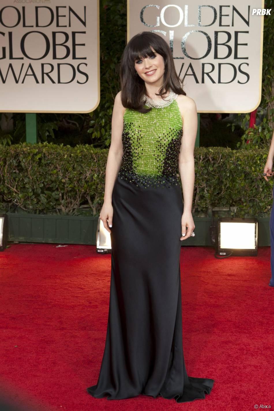 Zooey Deschanel aux Golden Globes 2012