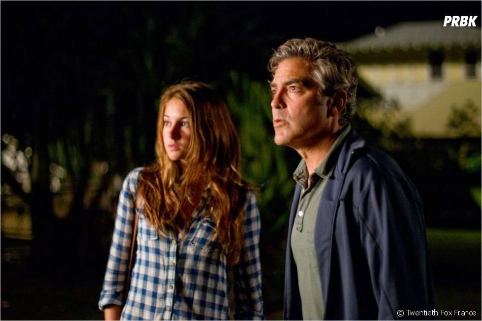 Shailene Woodley et George Clooney dans The Descendants