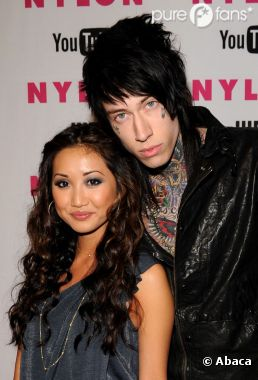 Trace Cyrus et sa future femme, Brenda Song