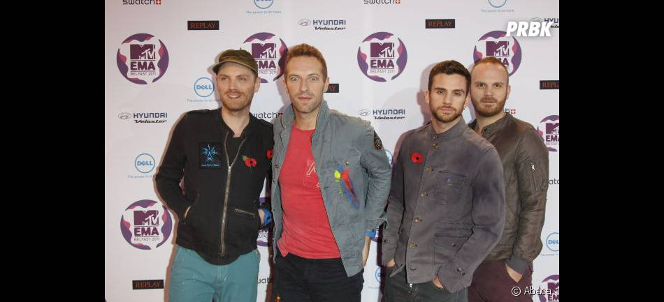 Le groupe Coldplay au complet aux EMA Music Awards