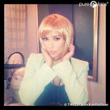Kim Kardashian en blonde !