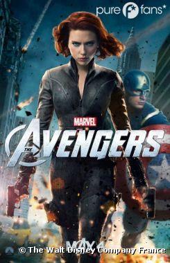 Scarlett Johansson et Chris Evans dans The Avengers