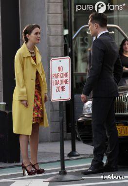 Leighton Meester et Ed Westwick sur le tournage à New York
