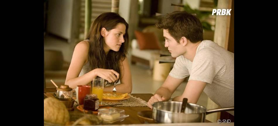 Robert Pattinson et Kristen Stewart dans Twilight 4