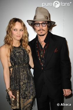 Johnny Depp et sa compagne Vanessa Paradis, un couple glamour
