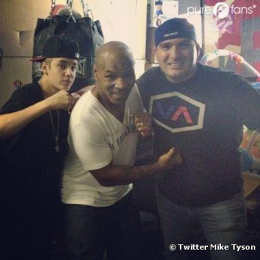 Mike Tyson et Justin Bieber en pleine séance d'entrainement de boxe