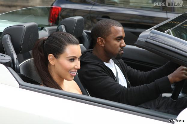 Kim Kardashian et Kanye West en amoureux (ou presque) à Paris