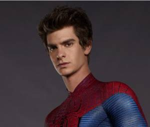 Andrew Garfield et son costume de Spider-Man