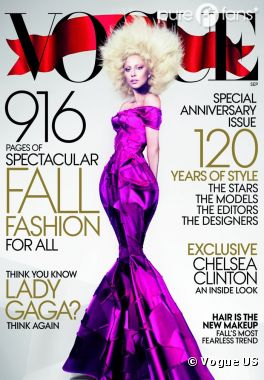 Lady Gaga funky pour Vogue US