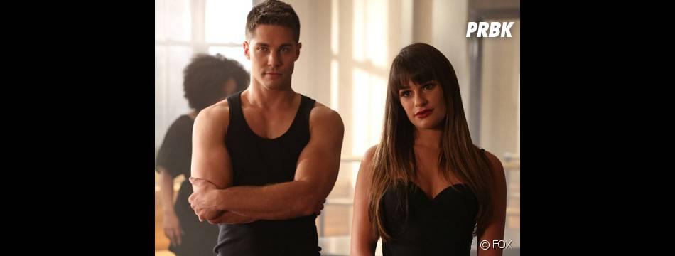 Rachel et Brody dans l'épisode 2 de la saison 4 de Glee