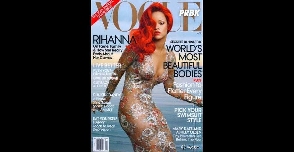 Rihanna de nouveau en couverture très sexy du Vogue Américain