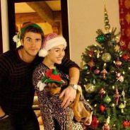 Miley Cyrus et Liam Hemsworth adorables et amoureux sur leurs photos de Noël