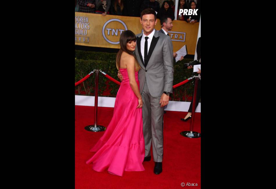 Lea Michele et son chéri Cory Moteith aux SAG Awards 2013