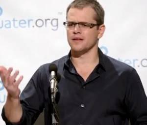 Matt Damon, un acteur engagé dans l'environnement.