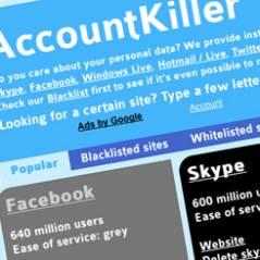 Account killer : le site pour fuir Facebook, Twitter & co