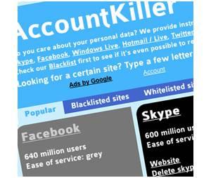 AccountKiller, le site pour supprimer tous vos comptes