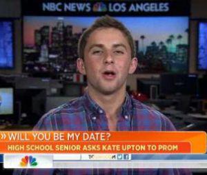 Kate Upton a répondu en direct  à la demande de Jake Davidson